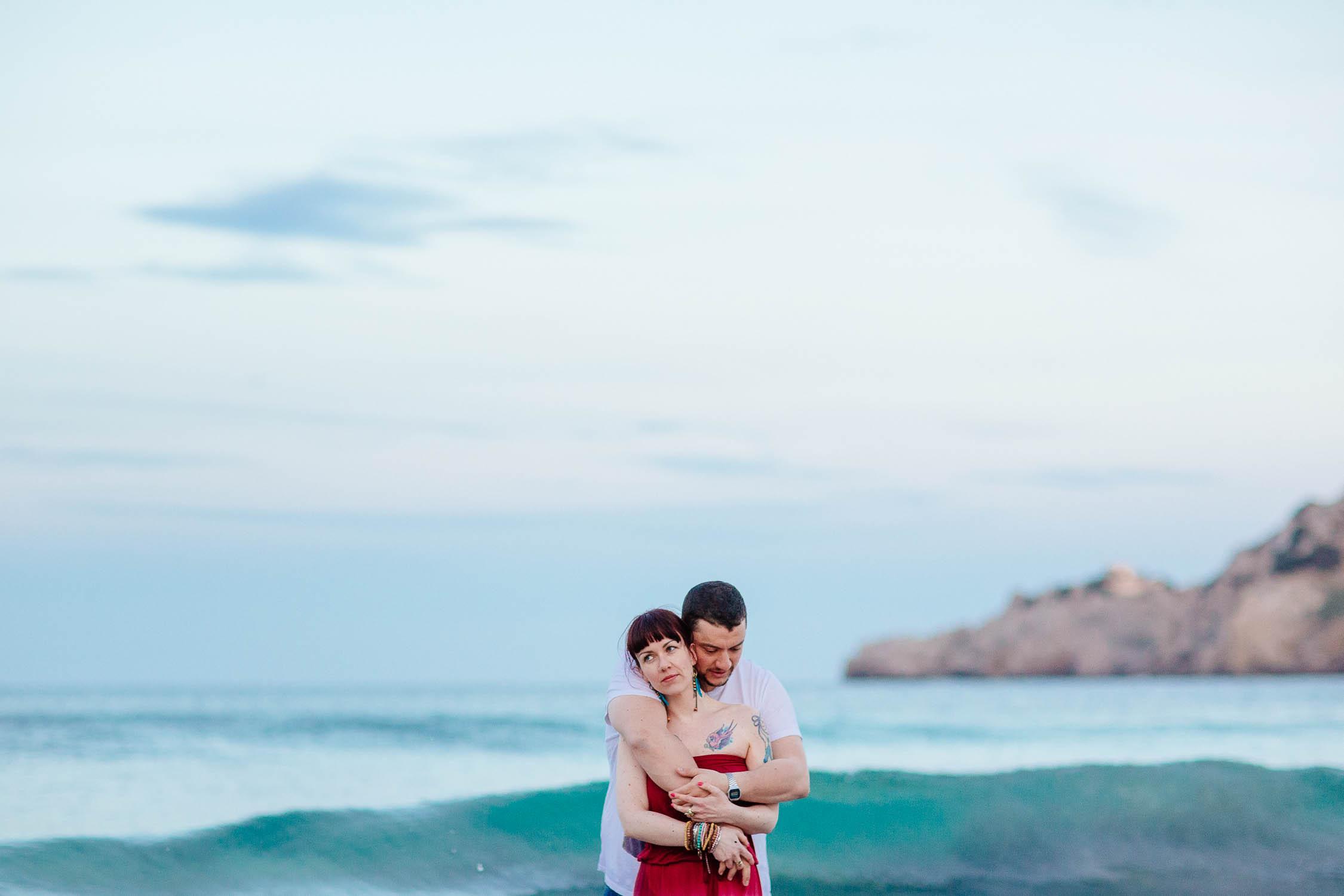Paarshooting am Strand von Mallorca