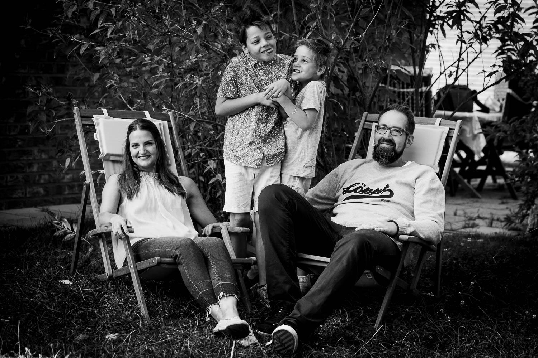 Familienbilder über die Jahre 45